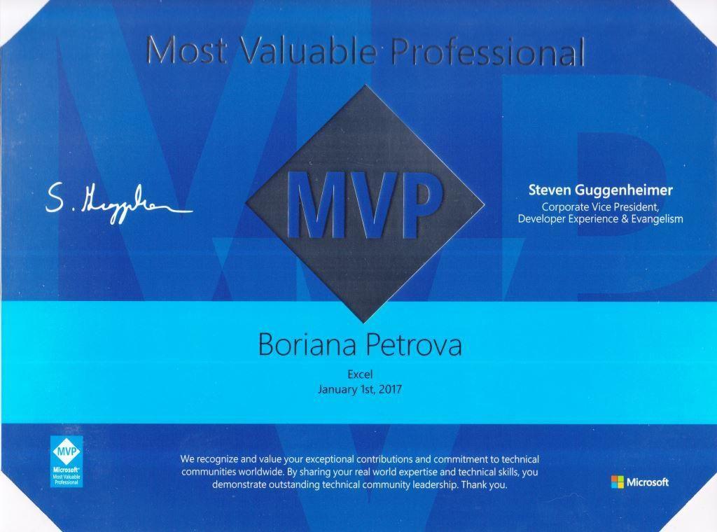 Боряна Петрова Microsoft MVP