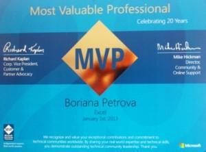 MVP Boriana Petrova