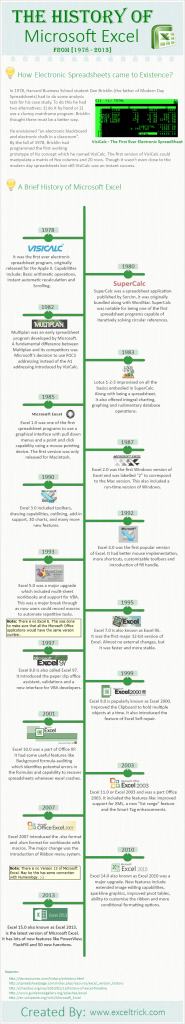 Infographic excel timeline