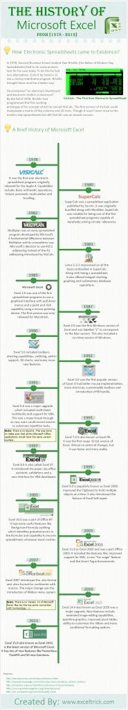Infographic excel timeline